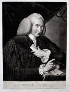 William Cullen, 1772. By Valentine Green. Mezzotint engraving. 278 x 367 mm. From RCPE collection.